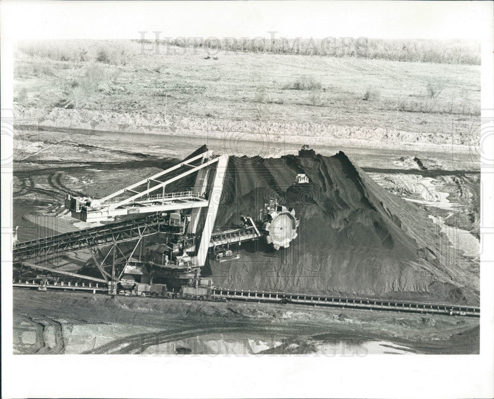 1984 Davant, LA Electro-Coal Transfer Corp 440-Ton Mechanical Shovel Press Photo - Historic Images
