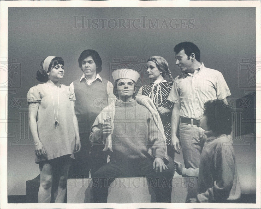 1971 Actor David Aaron as Charlie Brown & Peanuts Cast Press Photo - Historic Images