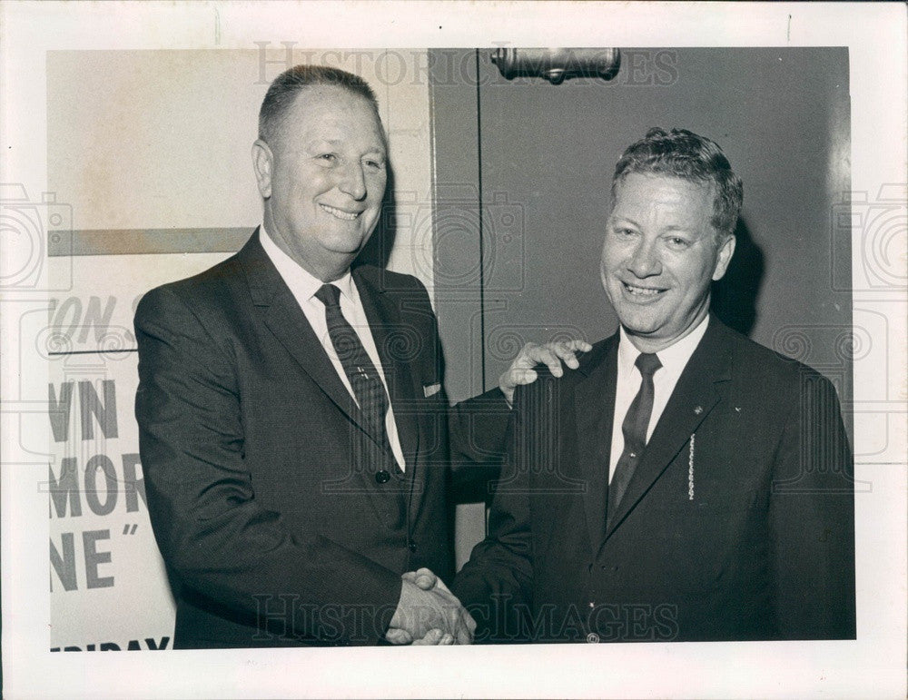 1961 St. Petersburg Florida Mayoral Candidates Burroughs & Goldner Press Photo - Historic Images