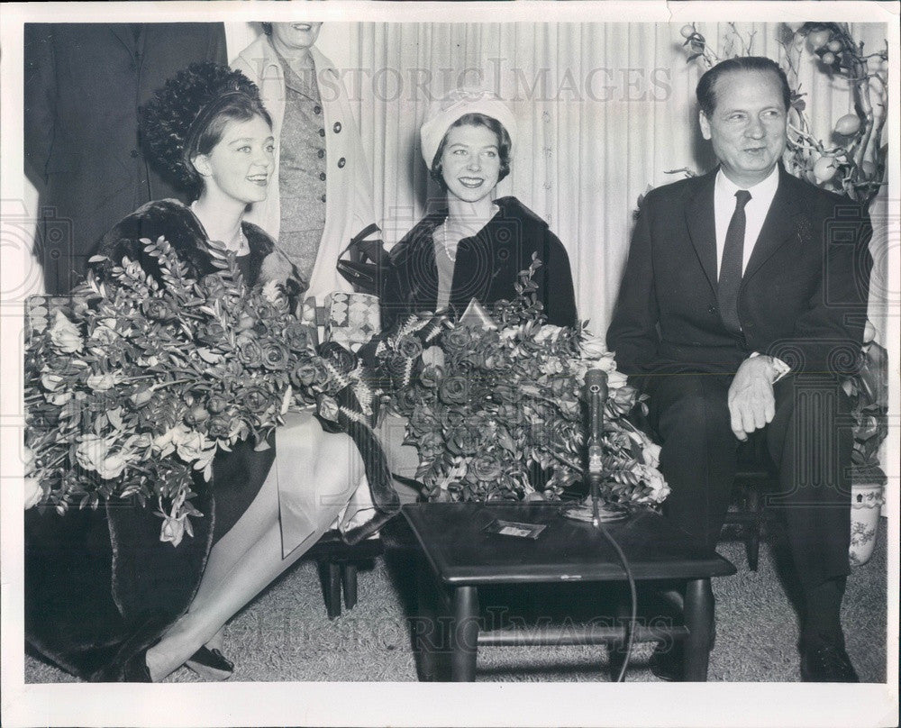 1960 Sweden Royal Family, Princess Birgitta, Princess Desiree Press Photo - Historic Images