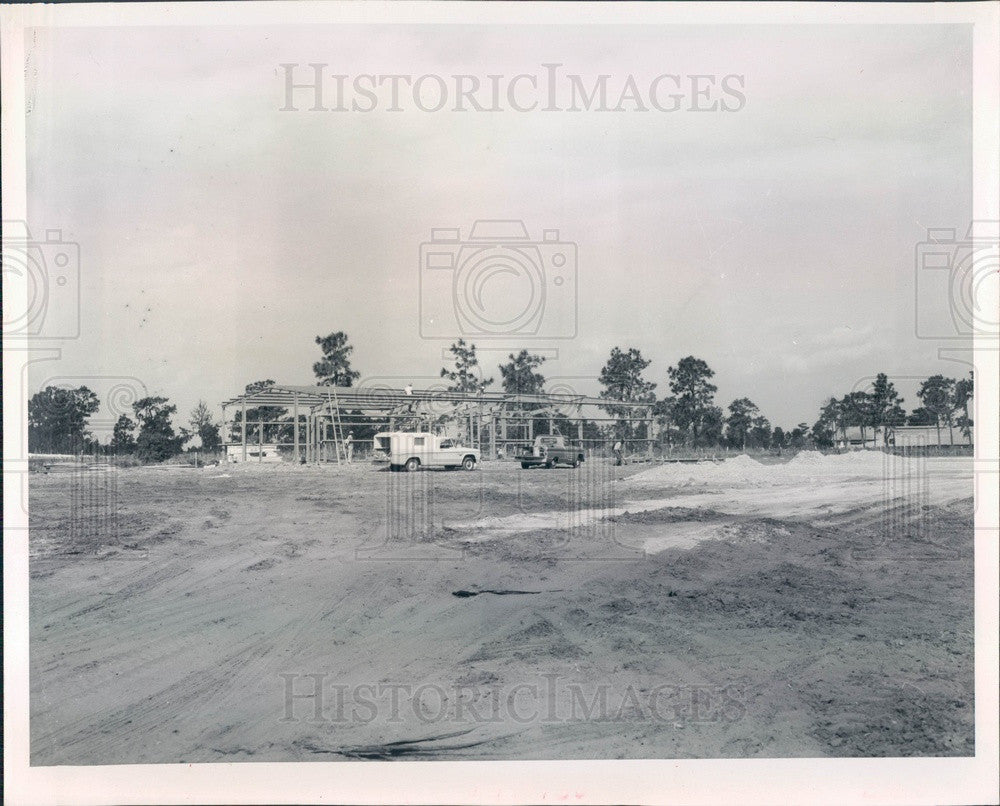 1967 Arcadia, Florida De Soto Fertilizer Plant Construction Press Photo - Historic Images
