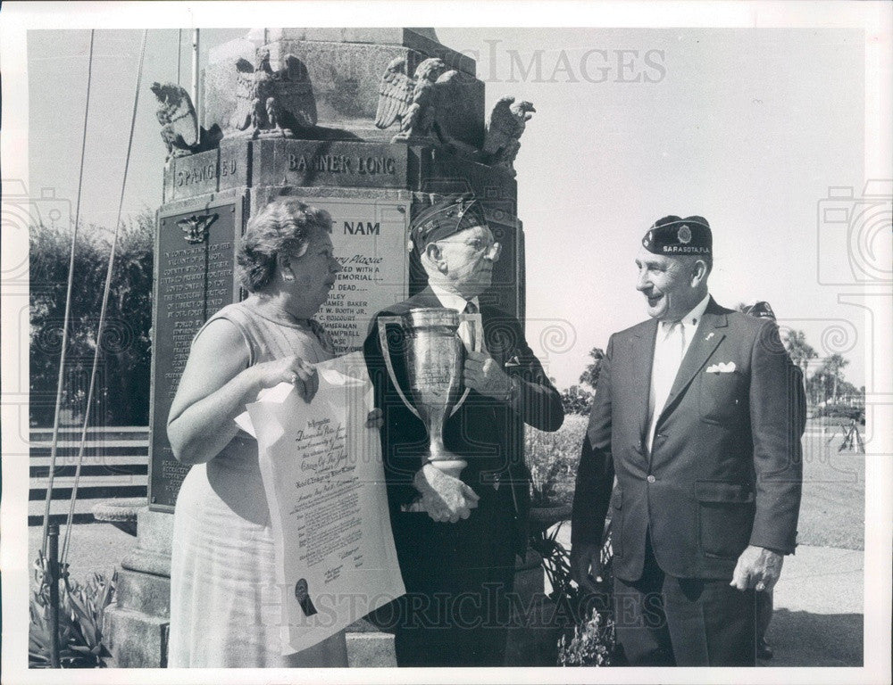 1970 Sarasota, Florida American Legion Citizens of the Year Press Photo - Historic Images