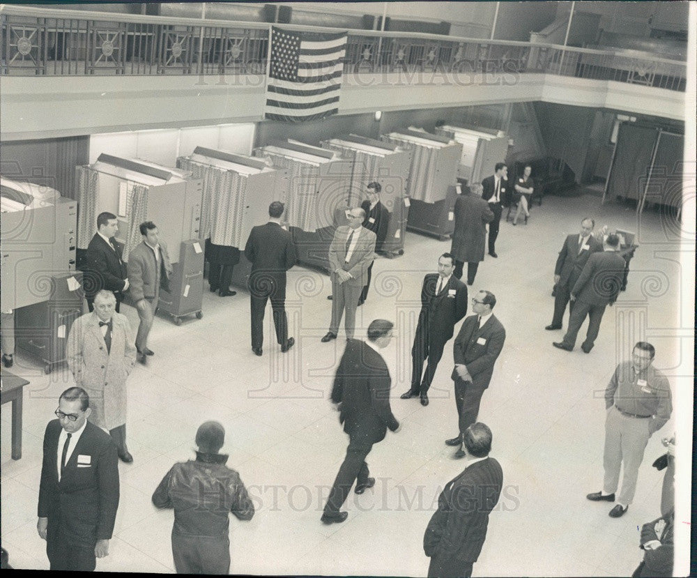 1965 Chicago Federation of Musicians, Musicians Hall Voting Booths Press Photo - Historic Images