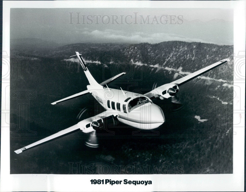 1981 Piper Sequoia Aircraft Press Photo - Historic Images