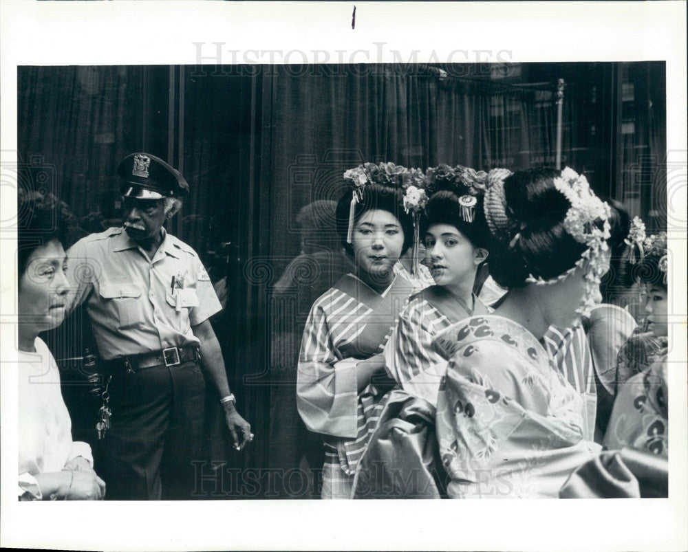 1989 Chicago Historical Society Japan Day Dancers Press Photo - Historic Images