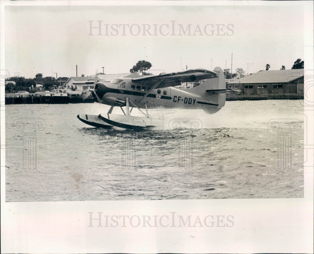 1966 Florida Seaplane Press Photo - Historic Images