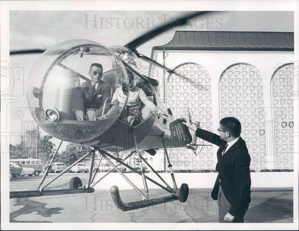 1964 Florida Flight of St. Petersburg Helicopter Press Photo - Historic Images