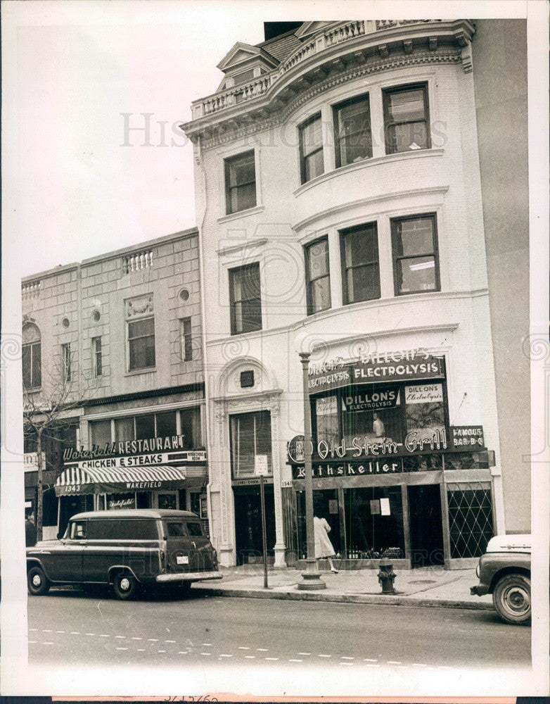 1962 Downtown Washington ADA Office above Old Stein Grill Tavern Press Photo - Historic Images