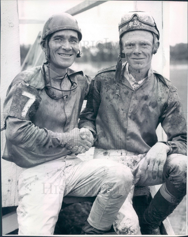 1961 Brush, Colorado Memorial Park Jockeys Godair & Finch Press Photo - Historic Images