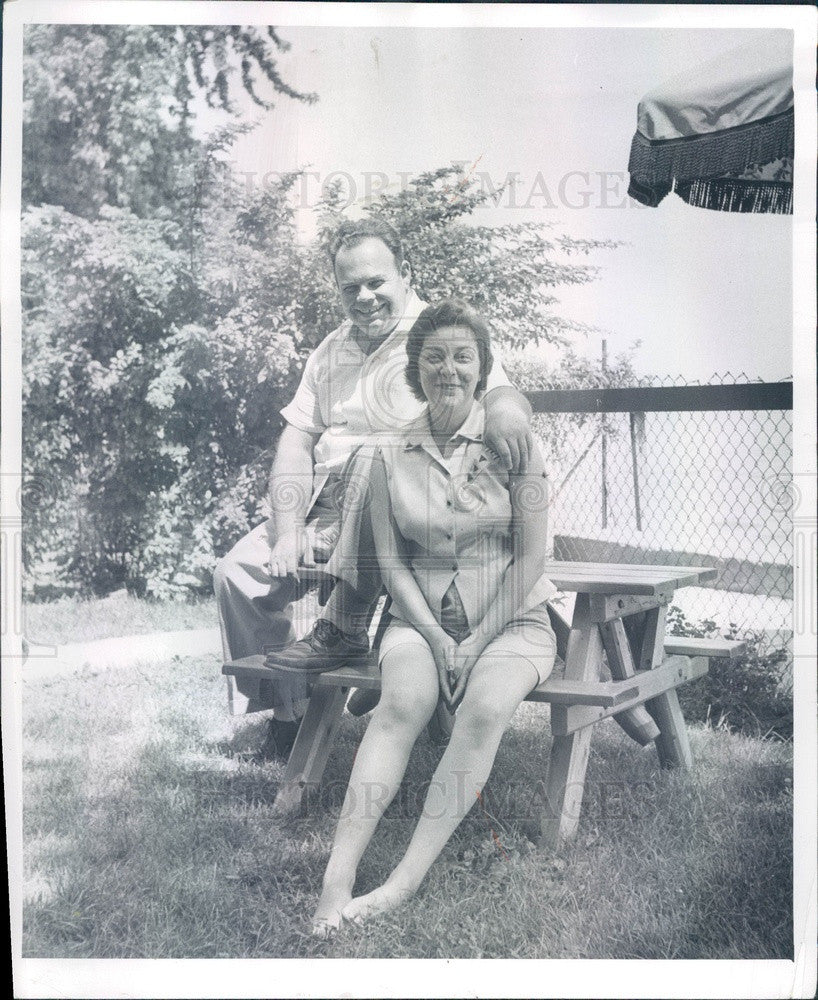 1957 St. Clair Shores, Michigan Mayor Thomas Welsh & Wife Press Photo - Historic Images