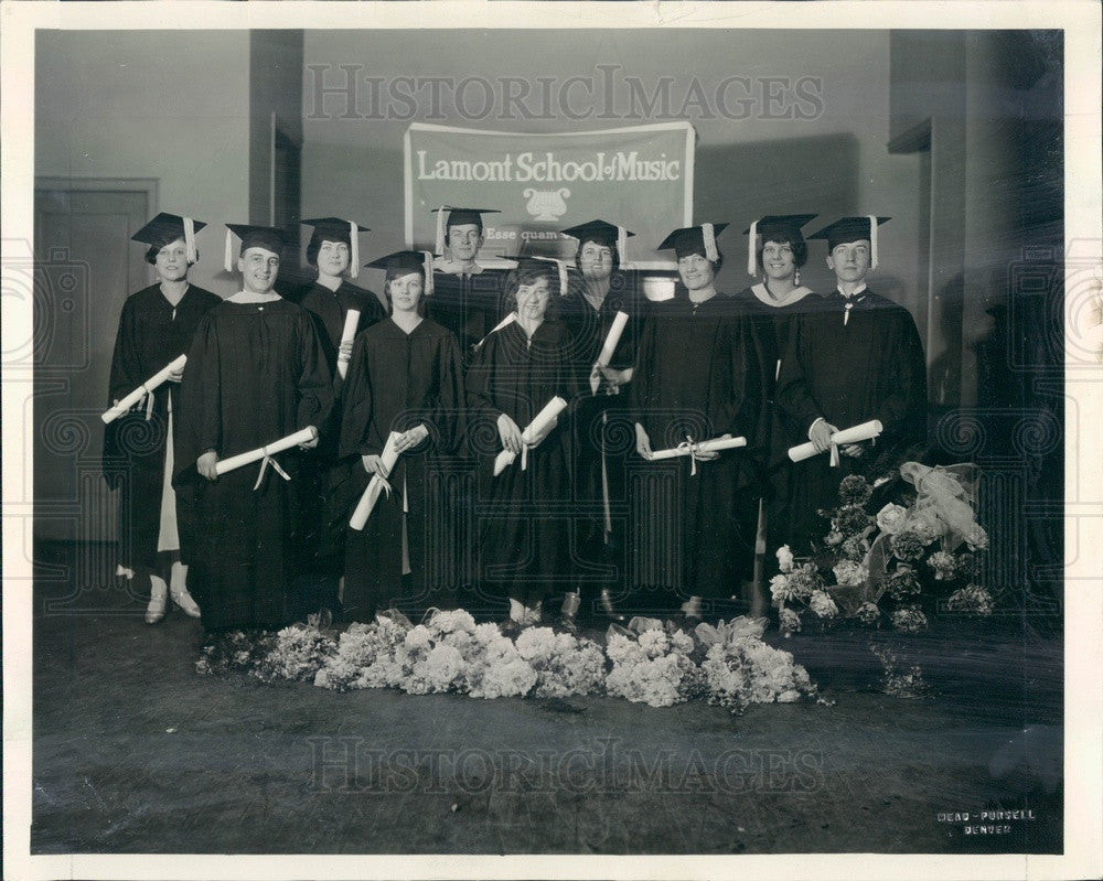 1929 Denver, Colorado Lamont School of Music Graduates Press Photo - Historic Images