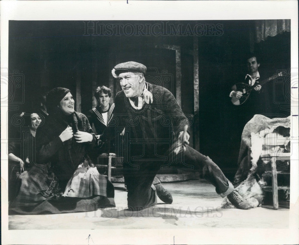 1986 Actor Anthony Quinn in Scene from Broadway Musical Zorba Press Photo - Historic Images