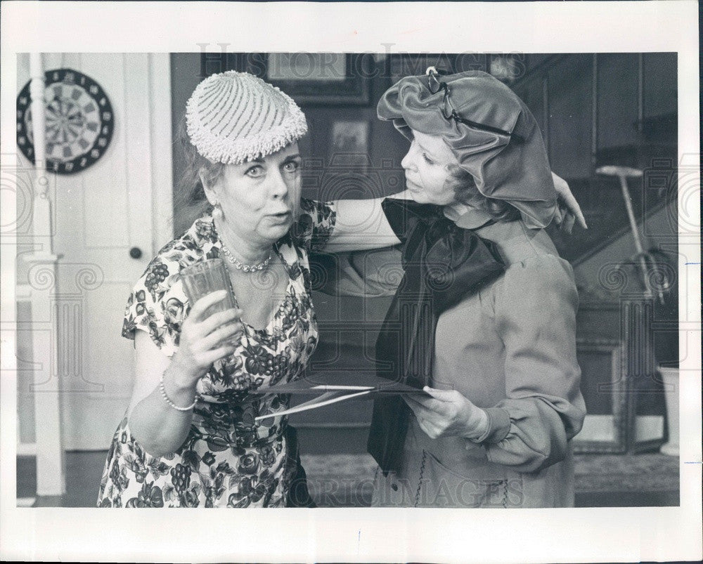 1978 Actors Betty Bryant & Marge Kotlisky Press Photo - Historic Images