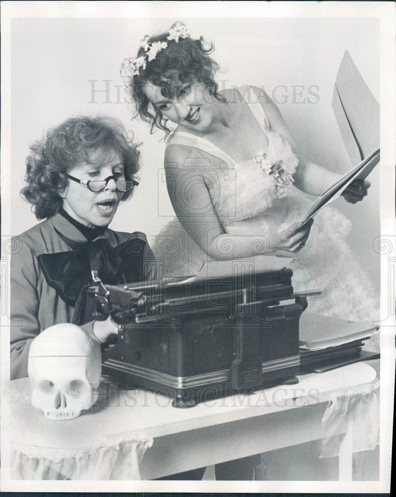 1978 Actors Audrie Neenan & Marge Kotlisky Press Photo - Historic Images