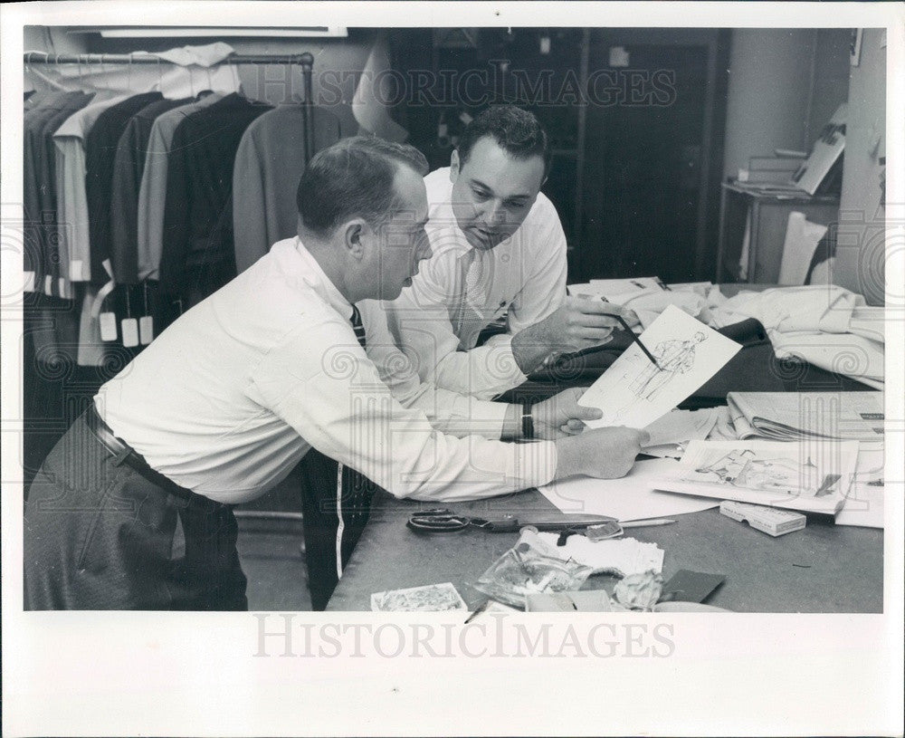 1959 Men's Fashion Designer Allan Mauck & Manufacturer Henry Gilbert Press Photo - Historic Images