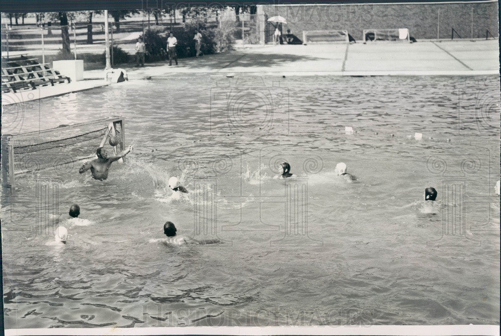 1951 Chicago, IL Water Polo, Natl AAU Outdoor Sr Men's Championships Press Photo - Historic Images