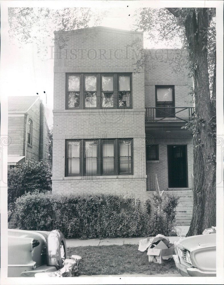 1960 Evanston, Illinois House Raided for Gambling on Hartrey Press Photo - Historic Images
