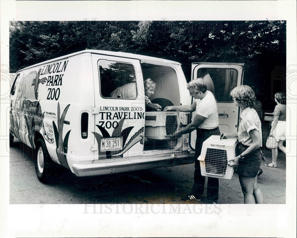 1983 Chicago, Illinois Lincoln Park Traveling Zoo Press Photo - Historic Images