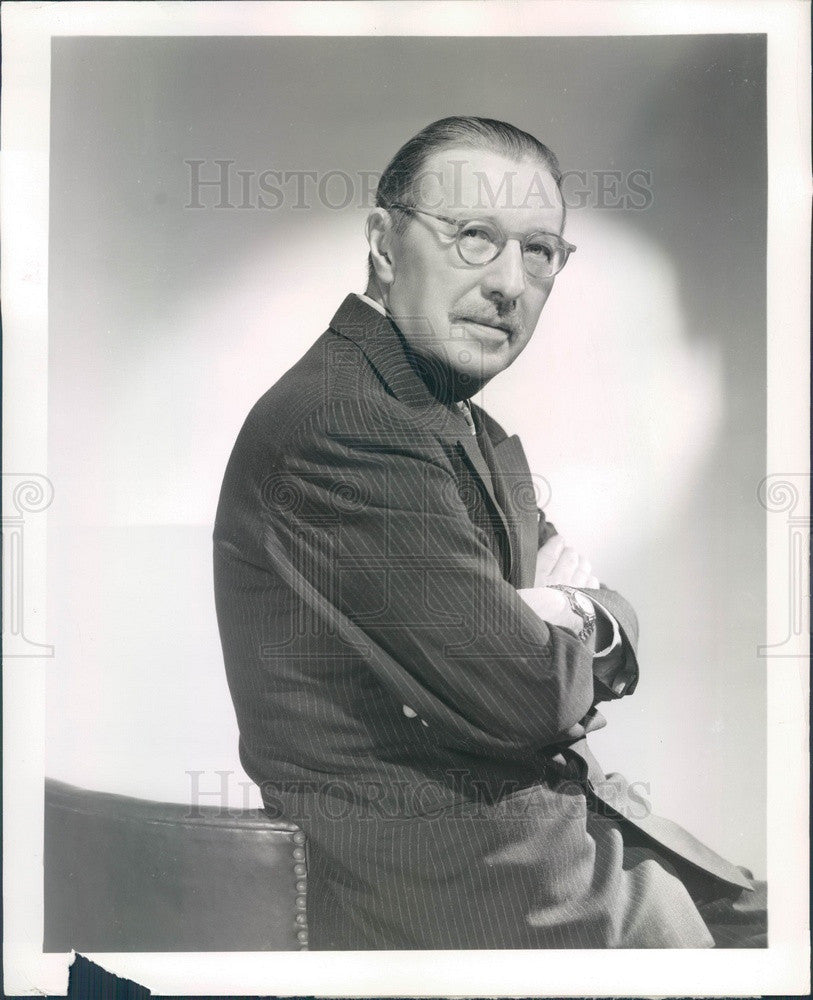 1947 Broadway American Producer/Playwright/Actor Howard Lindsay Press Photo - Historic Images