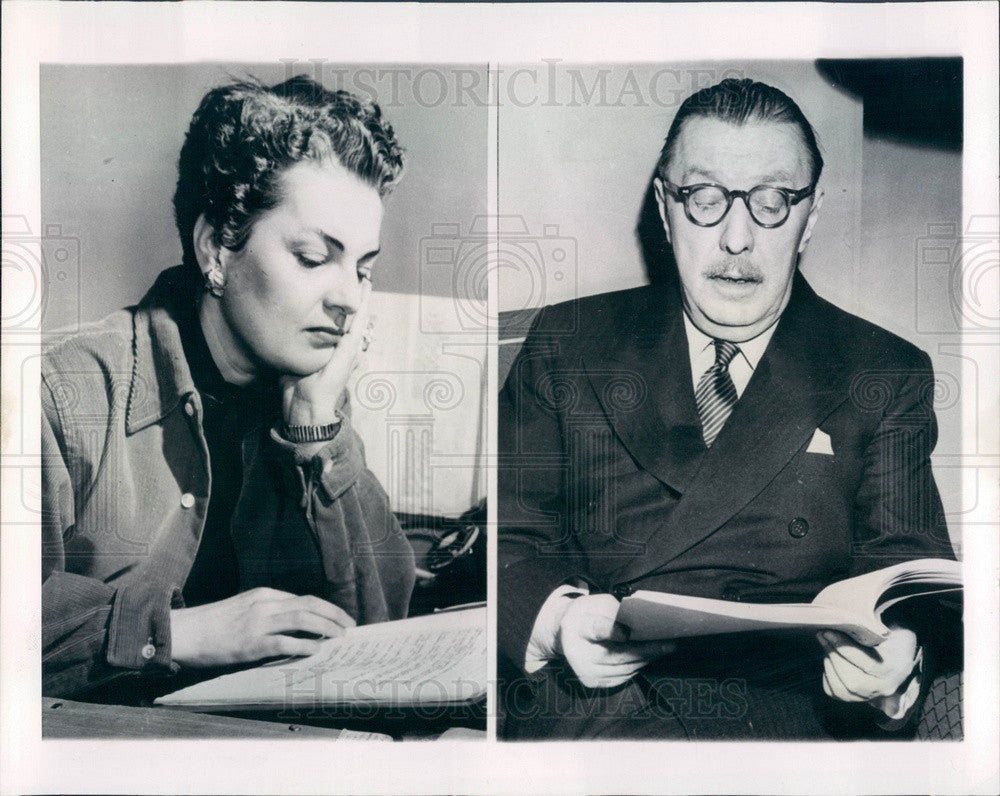 1952 Broadway American Producer/Playwright/Actor Howard Lindsay Press Photo - Historic Images