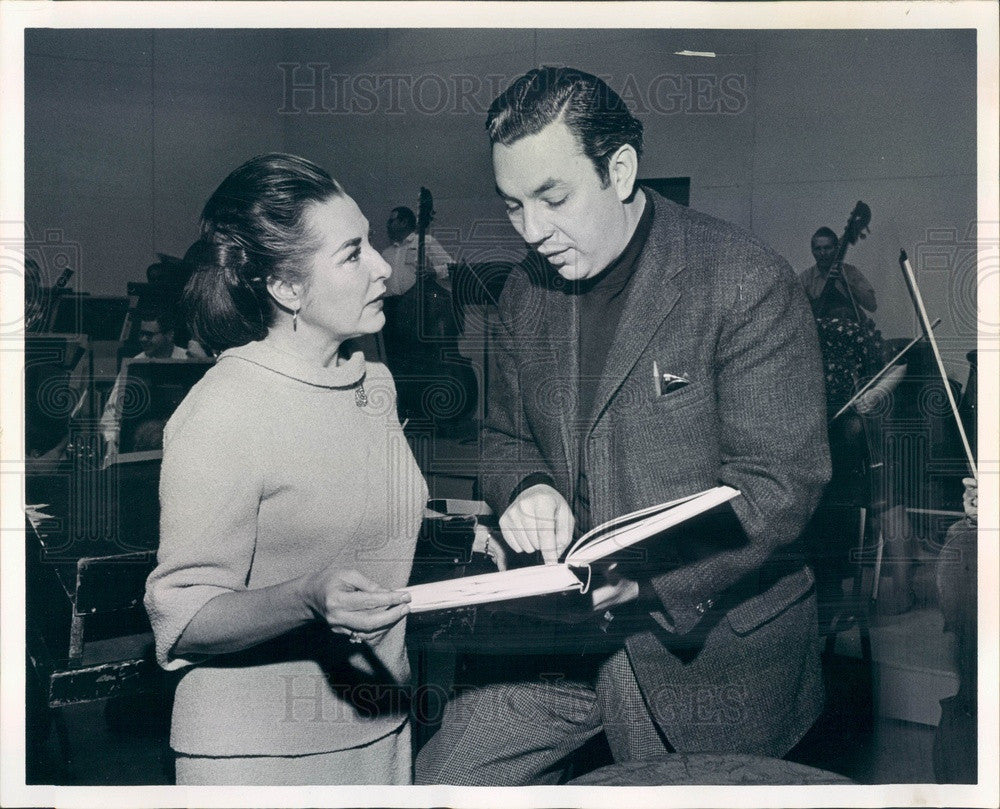 1968 American Classical Soprano Phyllis Curtin w/ Harold Farberman Press Photo - Historic Images