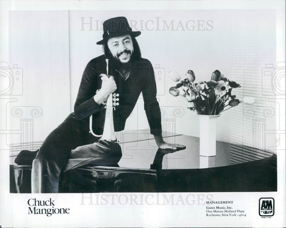 1981 American Musician Flugelhorn Player/Composer Chuck Mangione Press Photo - Historic Images