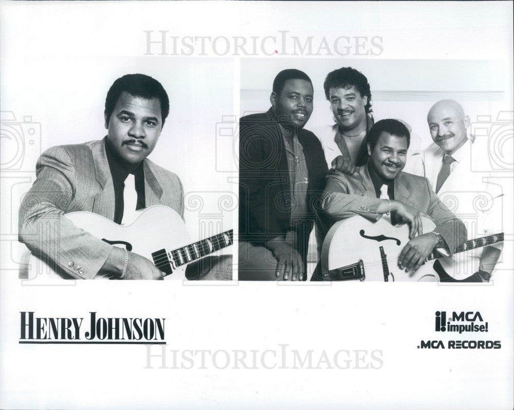 1998 Jazz Guitarist Henry Johnson Press Photo - Historic Images
