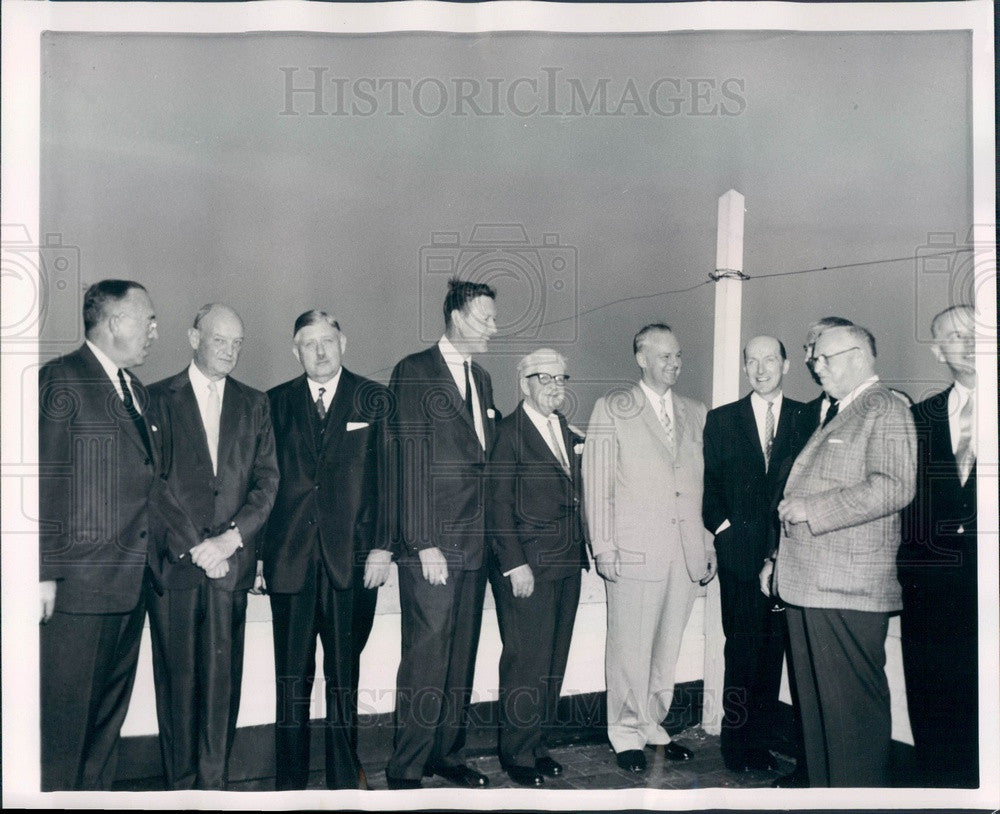 1958 Midwest Newspaper Publishers & Russian Ambassador Menshikov Press Photo - Historic Images