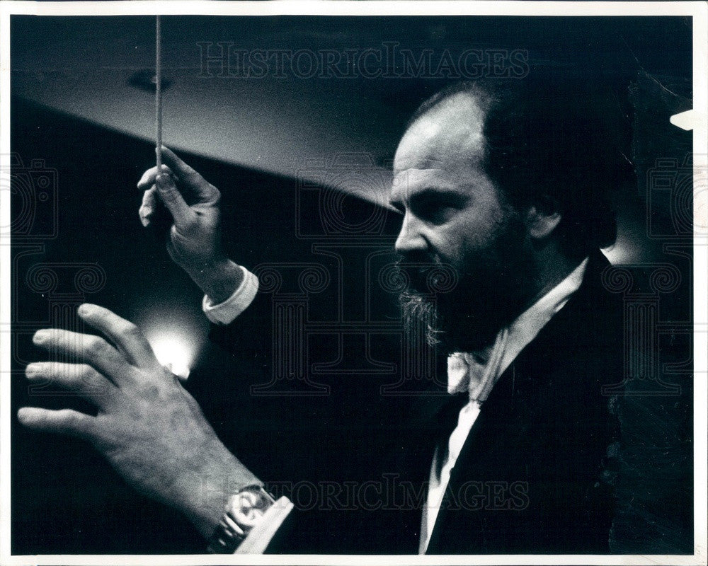 1977 Boulder, CO Philharmonic Orchestra Conductor Oswald Lehnert Press Photo - Historic Images