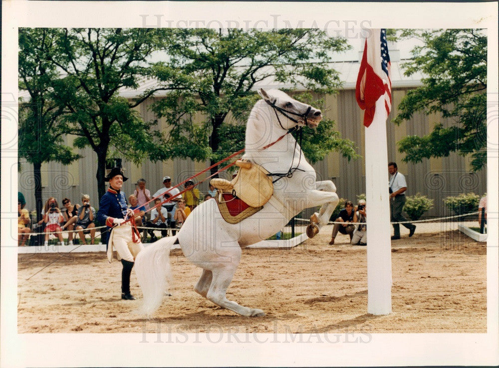 1993 Lipizzan Stallion & Performance Director Alf Athenstaedt Press Photo - Historic Images