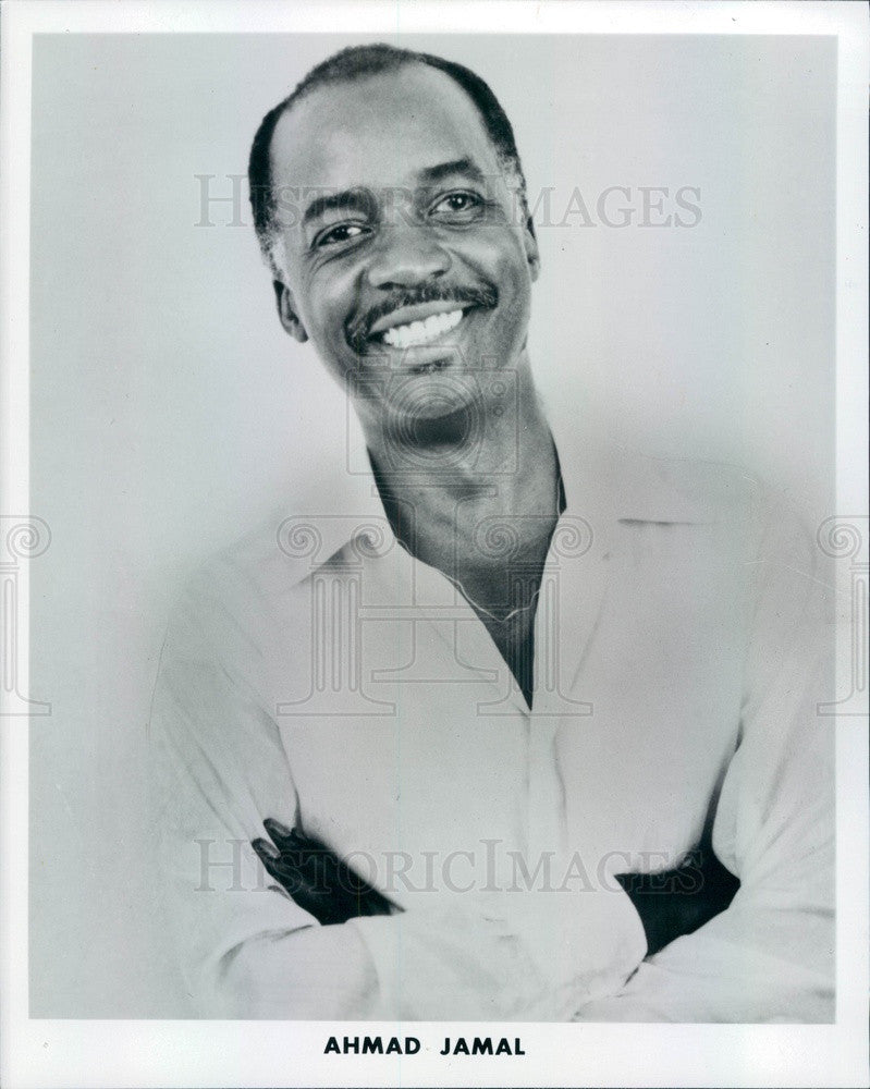 1984 Jazz Pianist Ahmad Jamal Press Photo - Historic Images