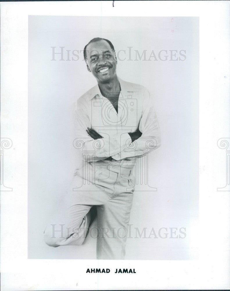 1988 Jazz Pianist Ahmad Jamal Press Photo - Historic Images