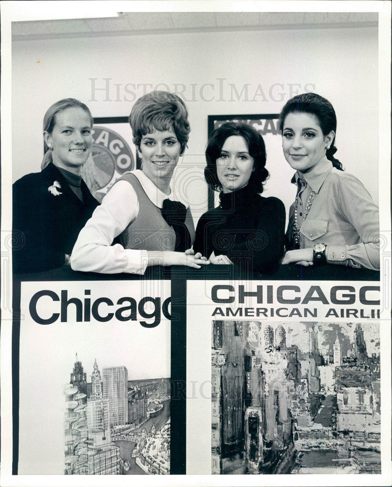 1969 Chicago, Illinois Miss Discover Chicago Contest Semifinalists Press Photo - Historic Images
