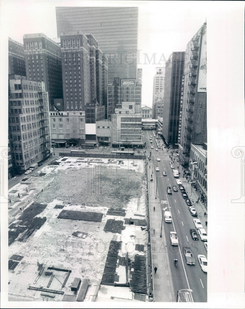1989 Chicago, Illinois New Second Tallest Building Site on Adams Press Photo - Historic Images