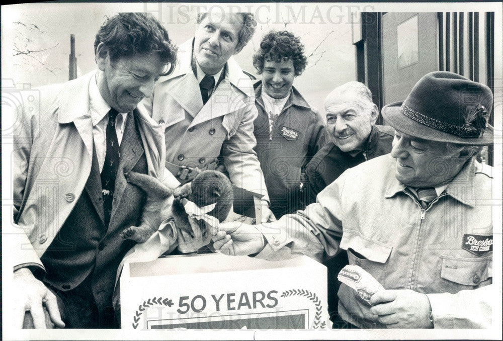 1980 Chicago, Illinois Bresler Ice Cream 50th Anniversary Press Photo - Historic Images
