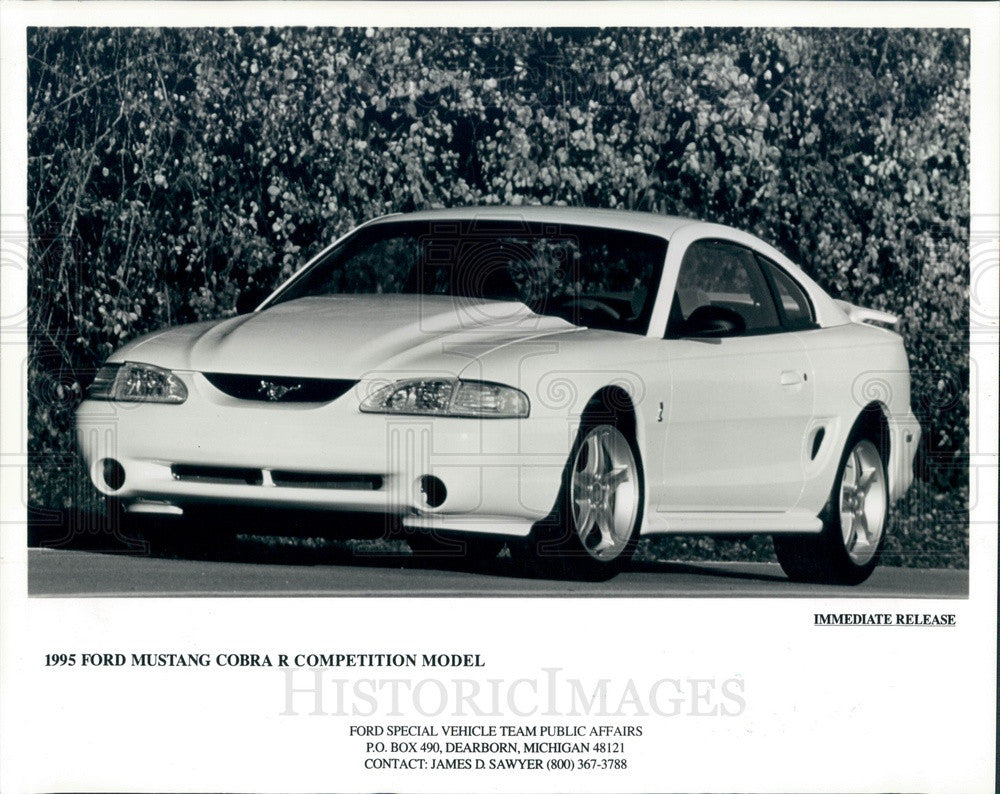 1995 Ford Mustang Cobra 1995 Limited Edition Press Photo - Historic Images