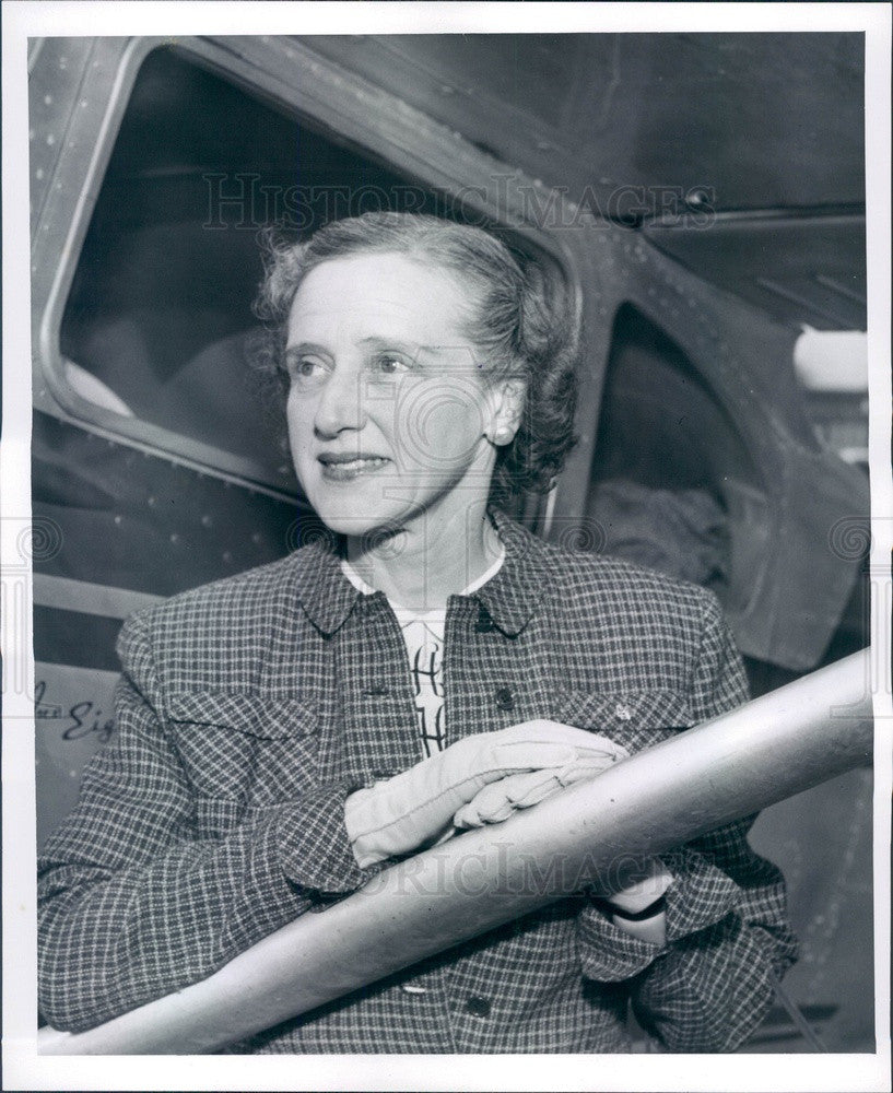 1956 Detroit, Michigan Pilot Mrs. John Hammond Press Photo - Historic Images