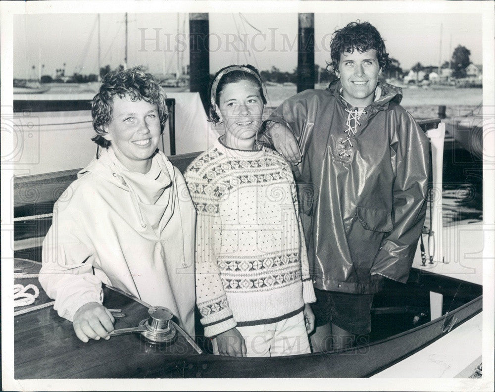 1962 Women's National Sailing Champion Timothea Schneider Press Photo - Historic Images