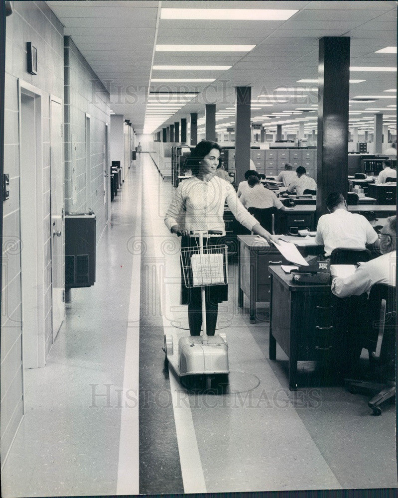 1965 Fort Washington, PA Honeywell Co Battery-Powered Scooter Press Photo - Historic Images