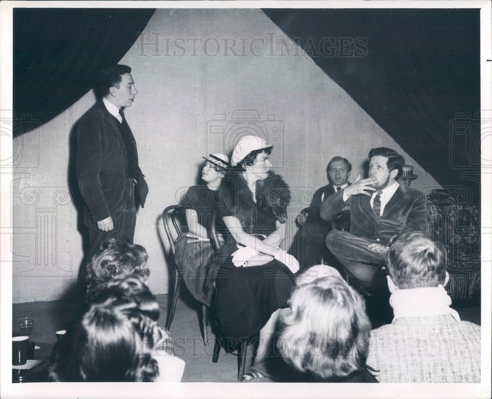 1962 Chicago, Illinois Second City Theater Cast Press Photo - Historic Images