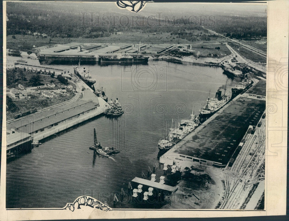 Undated Houston, Texas Waterfront Aerial View Press Photo - Historic Images