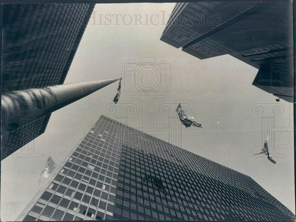 1975 Chicago, Illinois Air Wind Floating Sculptures Press Photo - Historic Images