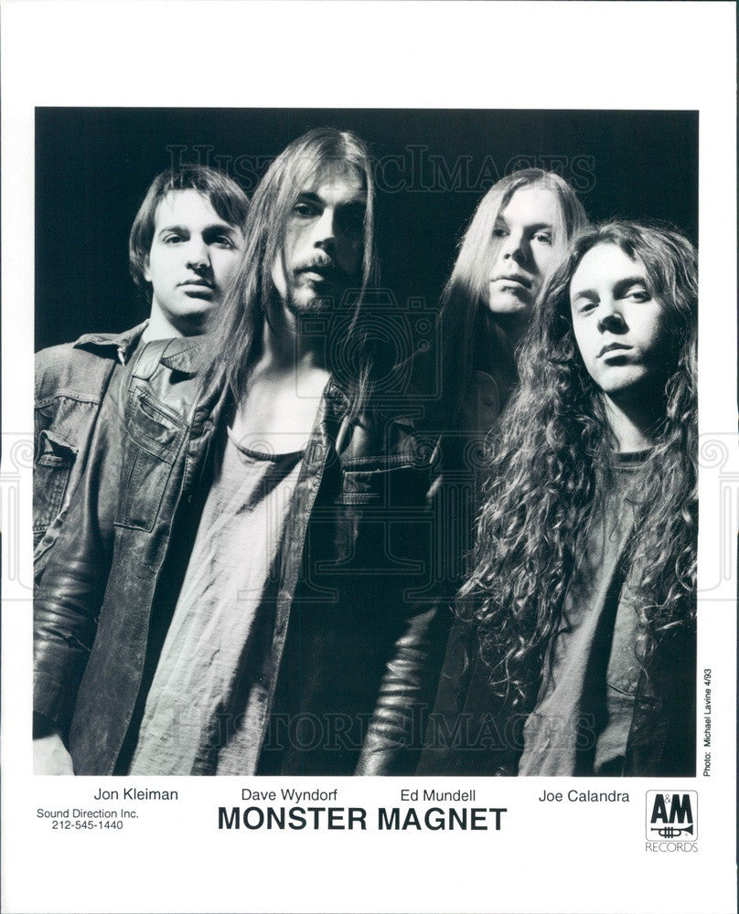 1993 Heavy Metal / Hard Rock Band Monster Magnet Press Photo - Historic Images