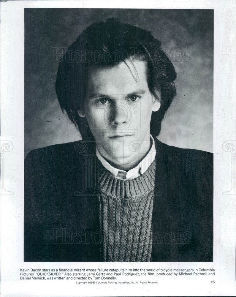 1986 Hollywood American Actor & Movie Star Kevin Bacon Press Photo - Historic Images