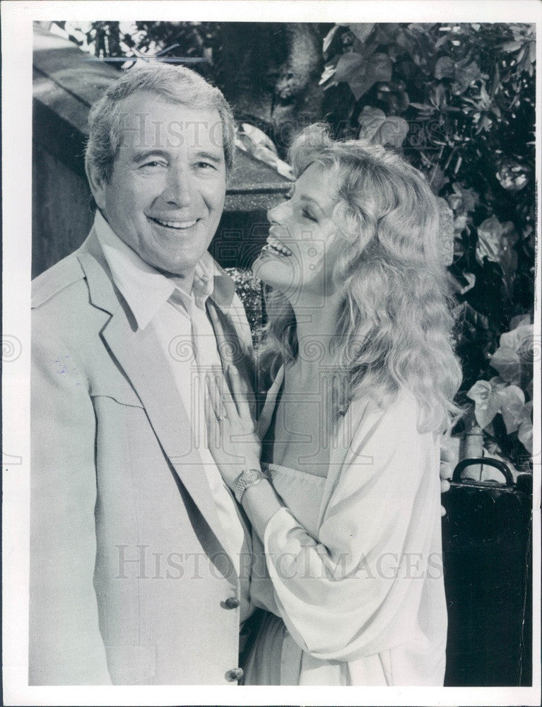 1981 Singer Perry Como & Hollywood Actress Cheryl Ladd Press Photo - Historic Images