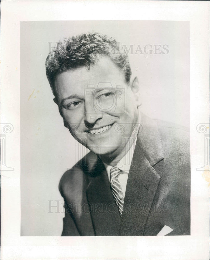 1959 English Comedian/Actor/Singer Dave King Press Photo - Historic Images