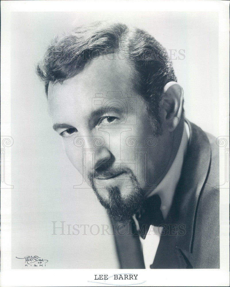 1974 Entertainer Lee Barry Press Photo - Historic Images
