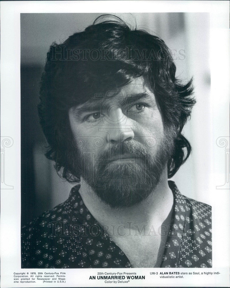1978 Hollywood Actor & Movie Star Alan Bates in An Unmarried Woman Press Photo - Historic Images