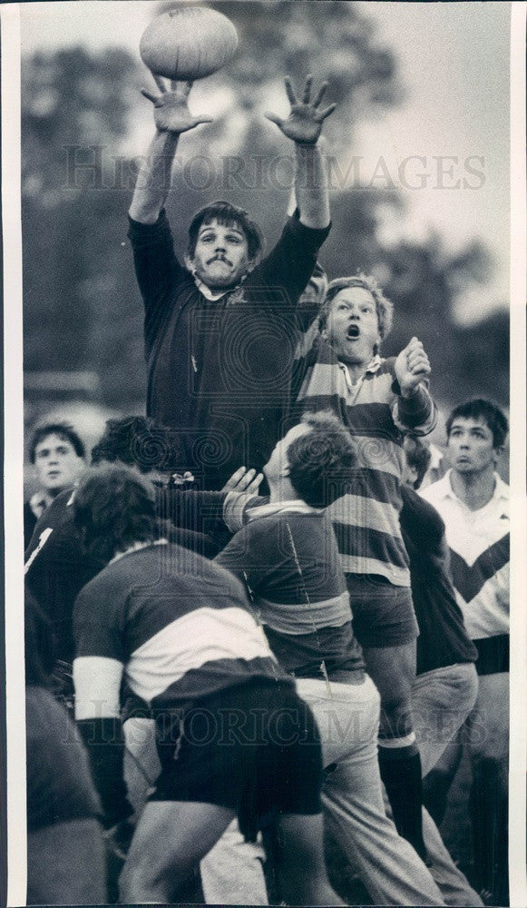 1986 Chicago, Illinois Lions Rugby Team Press Photo - Historic Images