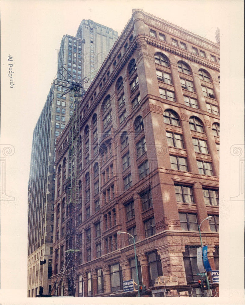 1990 Chicago, Illinois The Rookery Restoration Press Photo - Historic Images